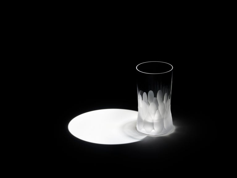 Martino Gamper Handmade Irish Crystal Shot Glass 'Cuttings' Series Set of 4 For Sale 1
