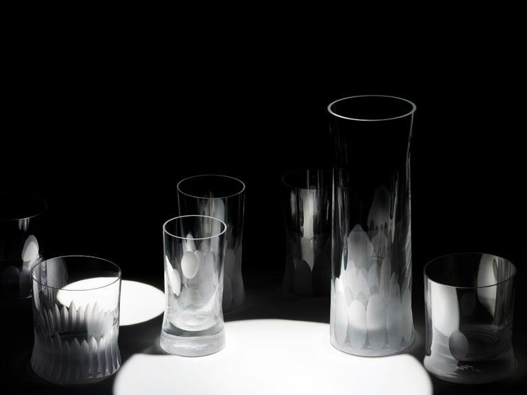 Martino Gamper Handmade Irish Crystal Shot Glass 'Cuttings' Series Set of 4 For Sale 3