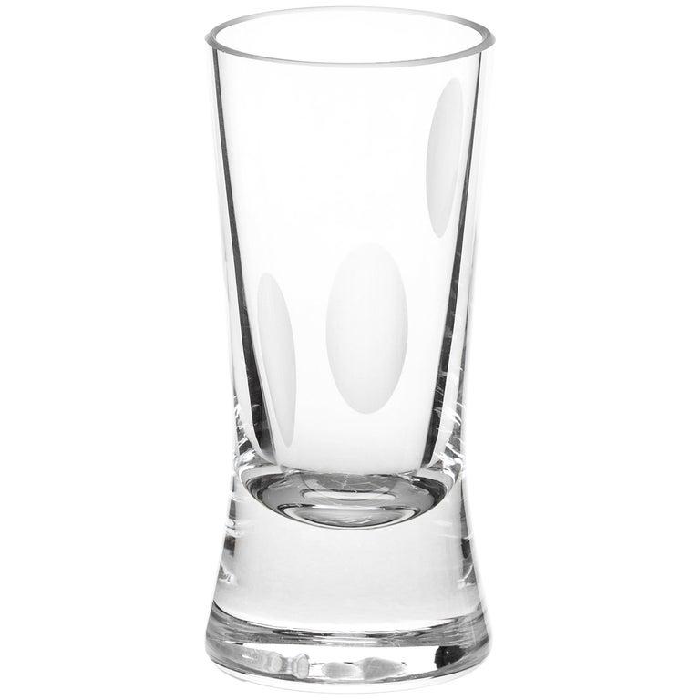 Martino Gamper Handmade Irish Crystal Shot Glass 'Cuttings' Series Set of 4 For Sale