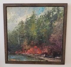 Winter Retreat, American Landscape,  Tonalist , painting, Utah, Idaho, Framed
