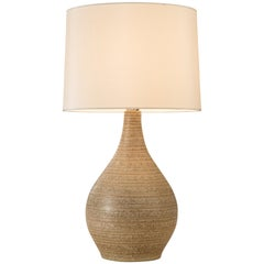 Martz, American Oatmeal Glazed Ceramic Lamp