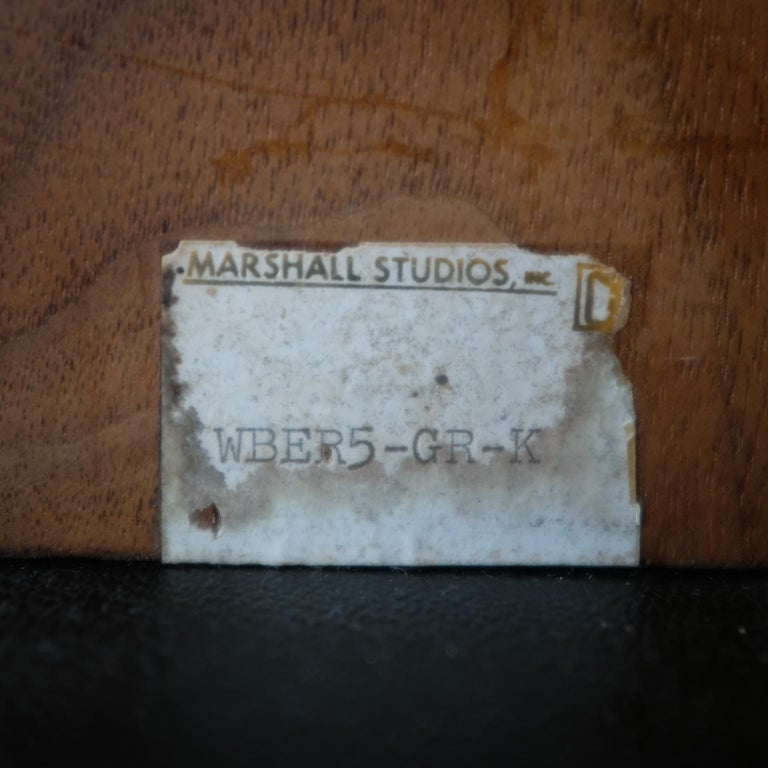 Martz Bookends for Marshall Studios Walnut and Ceramic For Sale 3
