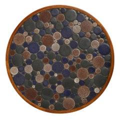 Martz Ceramic Top Side Table Walnut, USA, 1960s