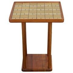 Martz Ceramic Top Square Side Table