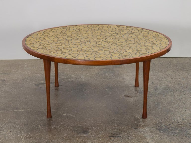 Mid-Century Modern Martz Coin Tile Coffee Table For Sale