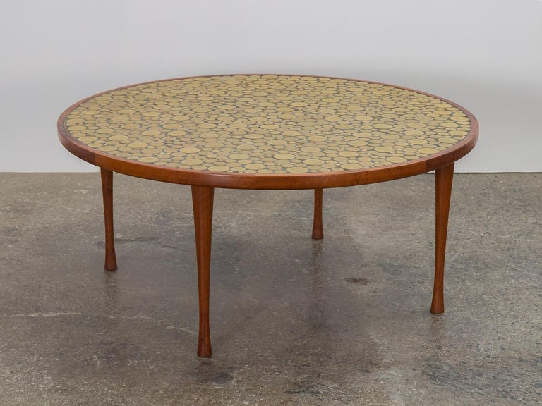 Turned Martz Coin Tile Coffee Table For Sale