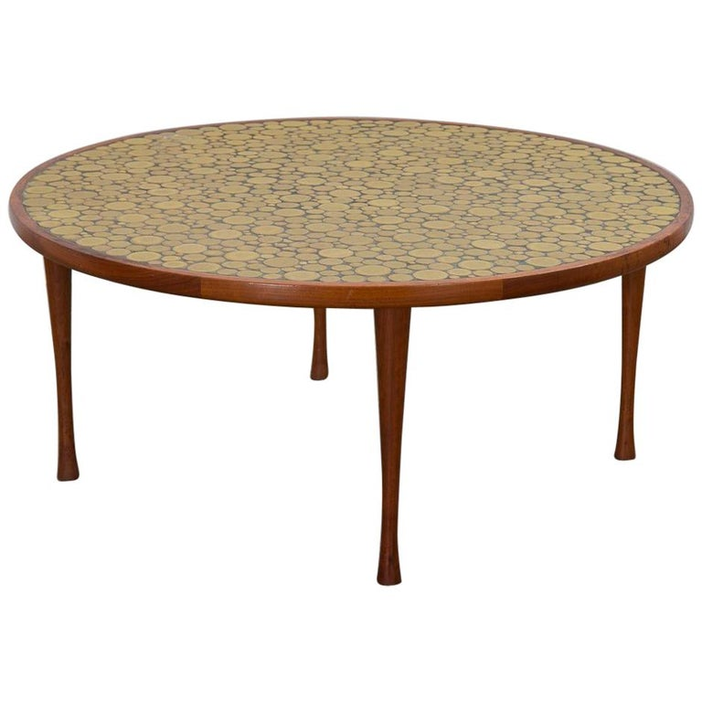 Martz Coin Tile Coffee Table For Sale