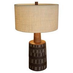 Martz Glazed and Incised Ceramic Lamp for Marshall Studios