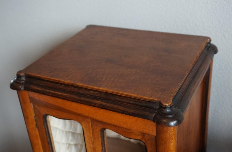 Marvelous 19th Century Handcrafted Louis Quinze Style Nutwood Miniature Cabinet For Sale 8