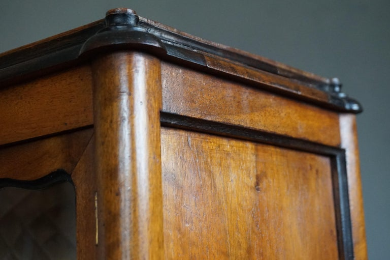 Marvelous 19th Century Handcrafted Louis Quinze Style Nutwood Miniature Cabinet For Sale 10