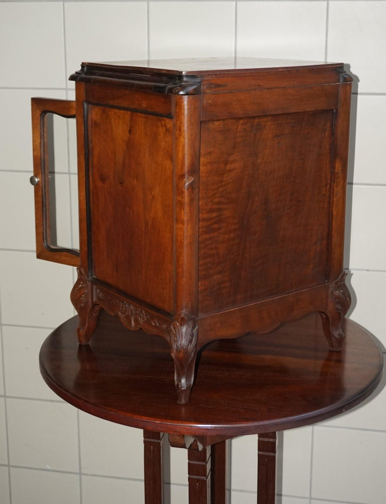 Marvelous 19th Century Handcrafted Louis Quinze Style Nutwood Miniature Cabinet For Sale 3