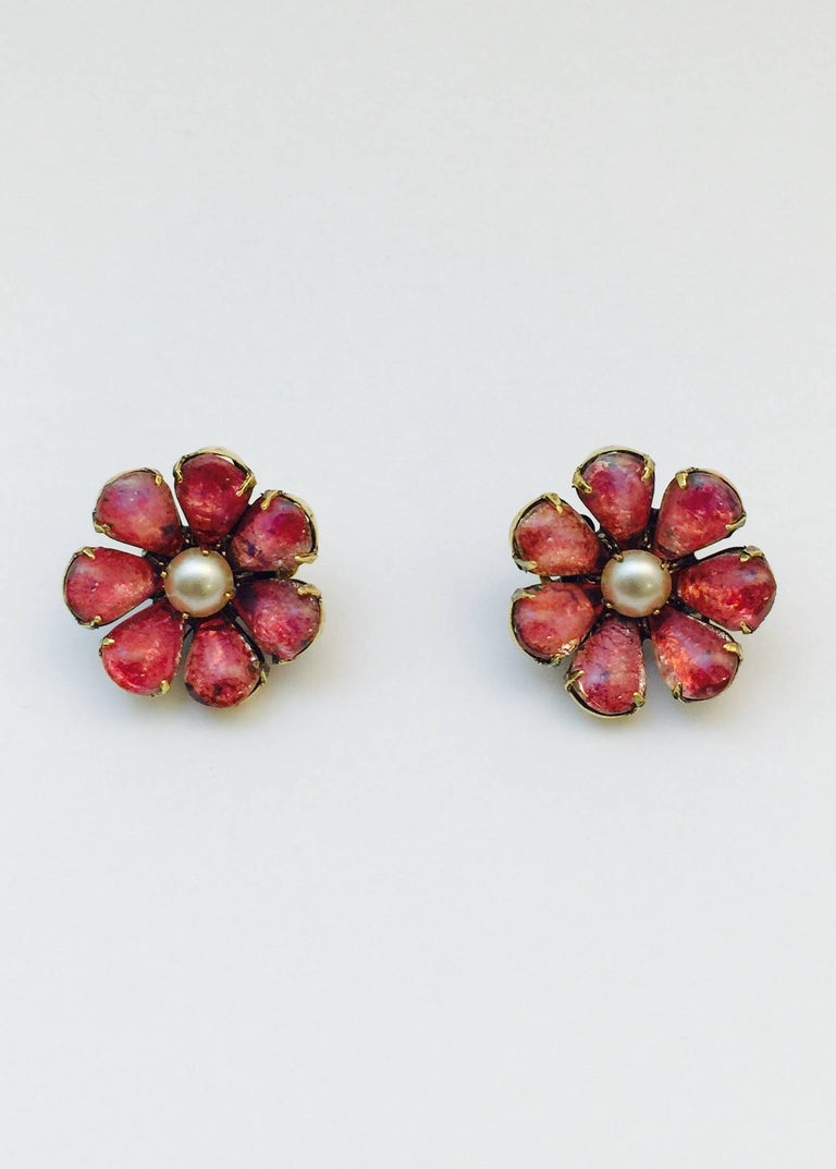 Marvelous Iradj Moini Brooch and Earrings In Excellent Condition For Sale In Palm Beach, FL