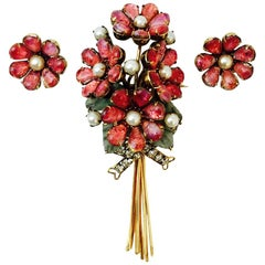 Marvelous Iradj Moini Brooch and Earrings