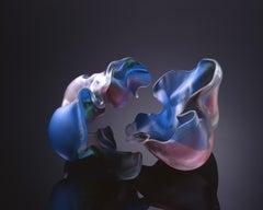 """Lauscha Group 1997 #10"", Contemporary, Blown, Glass, Sculpture, Sandblasted"