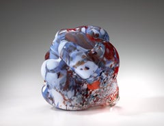 """Rona Series 2002 #2"", Blown, Glass, Sculpture, Organic, Shape, Colorful Pattern"