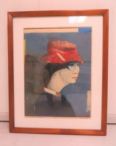Oriental Girl with Red Hat