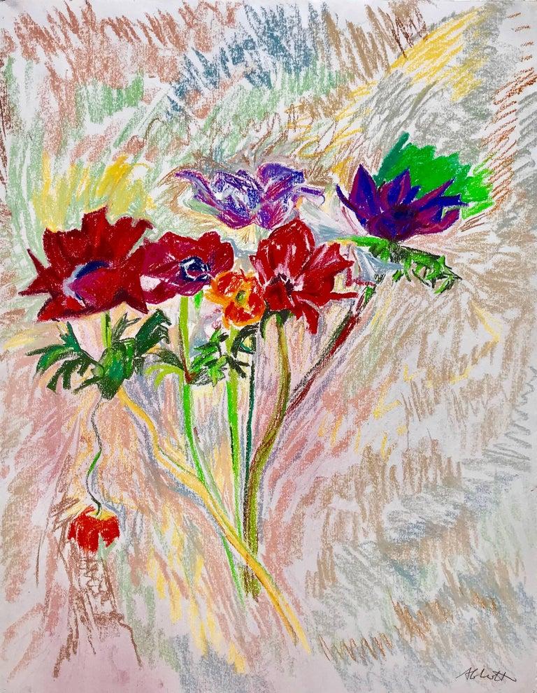 """Red Poppies"" - Mixed Media Art by Mary Abbott"