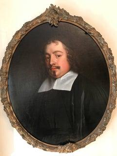17th Century Oil Painting Portrait of Chief Justice Sir Edward Lyttelton Munslow