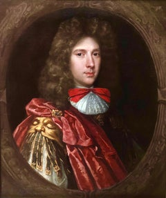 17th Century Oil Portrait of a Gentleman in a Red Costume and Armour