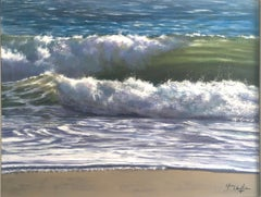 Blues V - original seascape wave painting Contemporary Art 21st Century