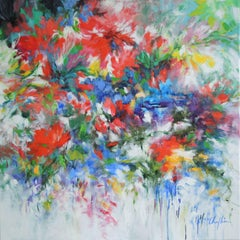 Dreaming of Summer, abstract floral painting