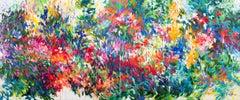 Françoise's garden, diptych, Original Art, Floral Paintings, Mary Chaplin