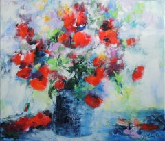 From The Normandy Meadow, Mary Chaplin, Original Floral Painting