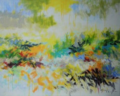 Mary Chaplin, 1976, Original Impressionist Painting, Bright Abstract Artwork