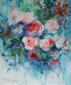 Mary Chaplin, A Taste of June, Original Impressionistic Floral Painting