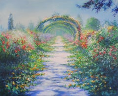 Mary Chaplin, Along the nasturtium path in Monet's gardens in Giverny