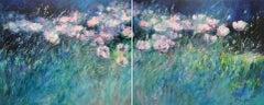 Mary Chaplin, Evening breeze, Original floral landscape painting