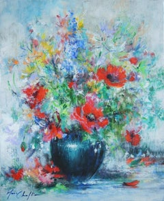 Mary Chaplin, Feeling of summer, Original Floral Painting, Affordable Artwork