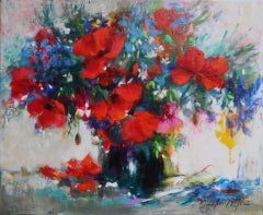 Mary Chaplin, From the Meadow, Contemporary Still Life Painting, Affordable Art