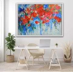 Mary Chaplin, Summer Escape, Original Statement Abstract Impressionist Painting