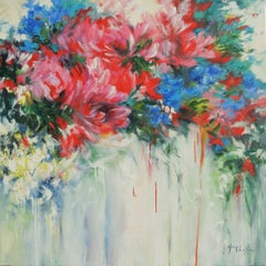Mary Chaplin, The Aria of Summer, Original Floral Painting, Affordable Art