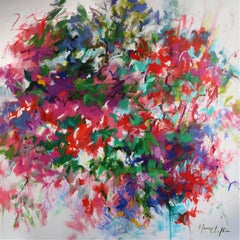 Memories of Summer abstract floral landscape painting