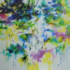 Spring Concerto I abstract floral landscape painting