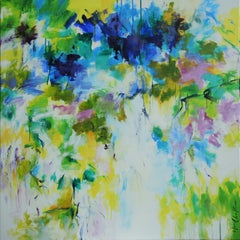 Spring Concerto II abstract floral landscape painting