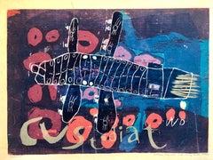 "1950's Sister Corita, William Daly, Silkscreen Lithograph ""Custodiat"" Pop Art"