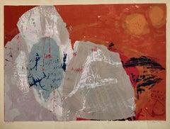 "1960's Sister Corita Pop Art Silkscreen Lithograph ""Justice & Peace Shall Kiss"""