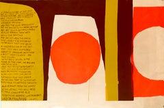 1960's Sister Corita, Ugo Betti Pop Art Silkscreen Lithograph Large Hand Signed
