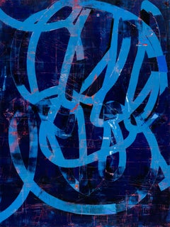 """Mary Didoardo """"Nocturne"""" - Abstract oil painting on wood panel"""
