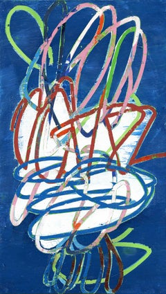 """Mary Didoardo """"Oasis"""" - Abstract gouache on mounted watercolor paper"""