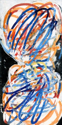 """Mary Didoardo """"Running in Place"""" - Abstract gouache on mounted watercolor paper"""