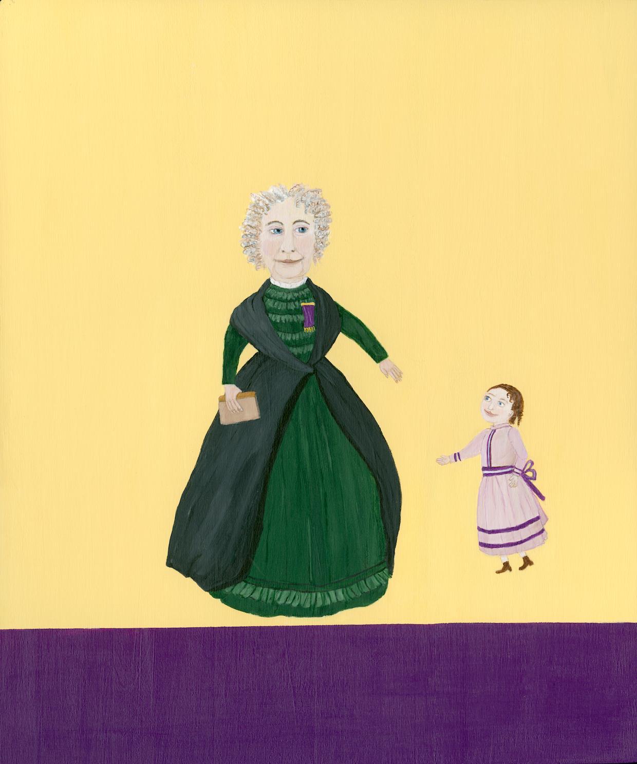 Mary Dwyer, Elizabeth Cady Stanton_Seneca Falls 1870s_2014_acrylic on board,