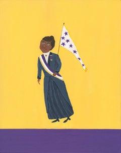 Mary Dwyer, Ida B. Wells, 1913, 2016, Acrylic Paint, Board