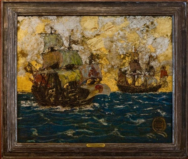"""""""Galleons"""" - Mixed Media Art by Mary Elizabeth Price"""