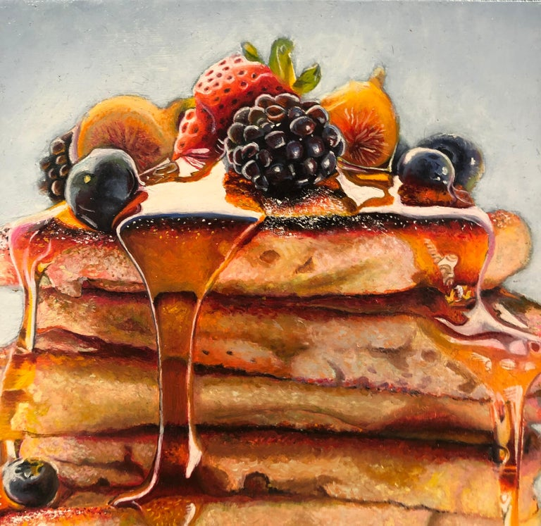 Photorealist Still Life with Pancakes,