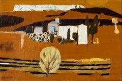 20th Century Painting 'Farm on the Hillside' by Mary Feddan