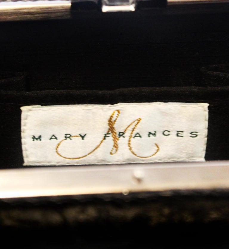 Mary Frances Black Beaded Clutch Bag For Sale 4